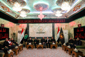 Iran's First Vice-President Es'haq Jahangiri (R) is seen during his meeting with Iraqi officials responsible for holding Arbaeen rituals, October 19, 2019. Iran's First Vice-President Es'haq Jahangiri travelled to Iraq on Saturday in order to attend the mourning ceremony of Arbaeen in Iraqi city of Karbala as well as meeting with Iraqi officials responsible for holding Arbaeen rituals.