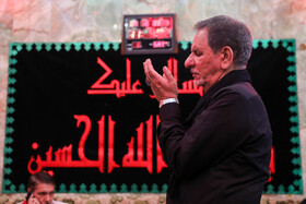 Iran's First Vice-President Es'haq Jahangiri offers prayers during his visit from Iraq, October 19, 2019. Iran's First Vice-President Es'haq Jahangiri travelled to Iraq on Saturday in order to attend the mourning ceremony of Arbaeen in Iraqi city of Karbala as well as meeting with Iraqi officials responsible for holding Arbaeen rituals.