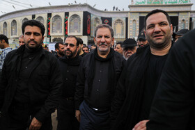 Iran's First Vice-President Es'haq Jahangiri (2nd, R) is seen during his visit from Iraq, October 19, 2019. Iran's First Vice-President Es'haq Jahangiri travelled to Iraq on Saturday in order to attend the mourning ceremony of Arbaeen in Iraqi city of Karbala as well as meeting with Iraqi officials responsible for holding Arbaeen rituals.