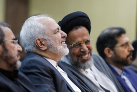 "Iranian Foreign Minister Mohammad Javad Zarif (2nd, L) is seen during the international conference on ""Unilateralism and International Law"", Tehran, Iran, October 21, 2019.