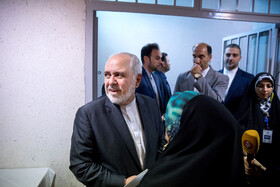 "Iranian Foreign Minister Mohammad Javad Zarif is seen during the international conference on ""Unilateralism and International Law"", Tehran, Iran, October 21, 2019.