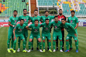 Zob Ahan FC is seen in the photo, Isfahan, Iran, October 21, 2019.