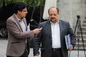 Iran's Labour Minister Mohammad Shariatmadari (R) is seen on the sidelines of the session of Iran's cabinet ministers, Tehran, Iran, October 23, 2019.