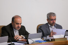 Iranian Minister of Sports and Youth Affairs Masoud Soltanifar (L) and Iran's Energy Minister Reza Ardakanian are present in the session of Iran's cabinet ministers, Tehran, Iran, October 23, 2019.
