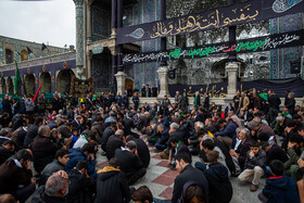 Iranians mourn for the demise of the Islam Prophet Muhammad (PBUH) and the martyrdom of the second Shia Imam, Imam Hassan (PBUH) at the Holy Shrine of Hazrat Masoumeh (Peace Be Upon Her), Qom, Iran, October 27, 2019.