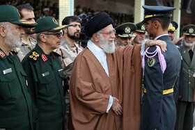 Iran's Leader attends graduation ceremony of army cadets
