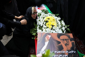 The funeral ceremony of the Iranian politician Azam Taleghani, Tehran, Iran, November 1, 2019. Azam Taleghani, the daughter of Ayatollah Taleghani, whose father was a senior Shia cleric and also the member of the first term of Iranian Parliament, died on Wednesday October 30 at the age of 76.