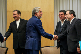 Iranian First Vice-President Es'haq Jahangiri (L) and Afghanistan's Chief Executive Abdullah Abdullah (2nd, L) are seen before their meeting starts, Tashkent, Uzbekistan, November 1, 2019. Iranian First Vice-President Es'haq Jahangiri arrives in Tashkent City of Uzbekistan in order to attend the 18th meeting of the Council of Heads of Government (Prime Ministers) of the Shanghai Cooperation Organization, November 1, 2019.