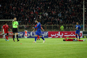 The football match between Tractor Sazi Tabriz FC and Esteghlal FC, Tabriz, Iran, October 1, 2019.