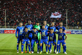 Esteghlal FC is seen before its match against Tractor Sazi Tabriz FC begins, Tabriz, Iran, October 1, 2019.