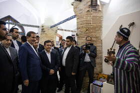 Iranian First Vice-President Es'haq Jahangiri visits the historical sites of Samarkand City, Uzbekistan, November 2, 2019.