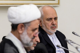 Iranian Foreign Minister Mohammad Javad Zarif (R) is present in the meeting of Iran's High Council for Human Rights, Tehran, Iran, November 3, 2019.