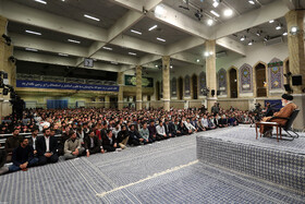 The meeting between Iran's Supreme Leader Ayatollah Ali Khamenei and university and school students ahead of the National Day of Fighting Global Arrogance and the National Day of Students, Tehran, Iran, November 3, 2019.