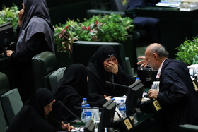 On the sidelines of the public session of Iran's Parliament, which was held in the presence of Iranian Foreign Minister Mohammad Javad Zarif, Tehran, Iran, November 3, 2019.