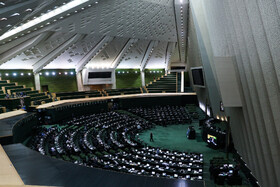 The public session of Iran's Parliament, which was held in the presence of Iranian Foreign Minister Mohammad Javad Zarif, Tehran, Iran, November 3, 2019.