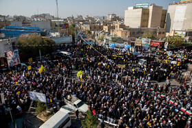 People of Qom hold rallies to mark the 40th occupation anniversary of the former US embassy in Tehran, Iran, November 4, 2019.