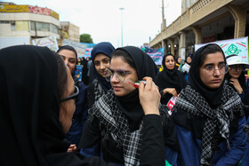People of Ahvaz hold rallies to mark the 40th occupation anniversary of the former US embassy in Tehran, Iran, November 4, 2019.