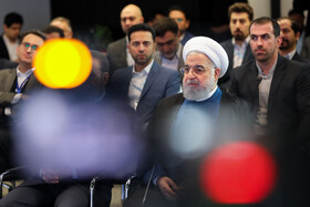 Iranian President Hassan Rouhani is seen on the sidelines of the opening ceremony of the Azadi Innovation Factory, Tehran, Iran, November 5, 2019.