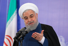 Iranian President Hassan Rouhani delivers a speech during the opening ceremony of the Azadi Innovation Factory, Tehran, Iran, November 5, 2019.