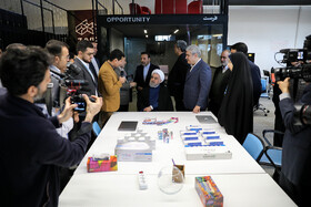 On the sidelines of the opening ceremony of the Azadi Innovation Factory which is held in the presence of Iranian President Hassan Rouhani, Tehran, Iran, November 5, 2019.