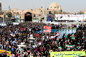 On the sidelines of Iranian President's visit to Yazd City, Iran, November 10, 2019.