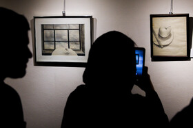 The exhibition of Abbas Kiarostami's paintings at Golestan Gallery, Tehran, Iran, November 11, 2019.
