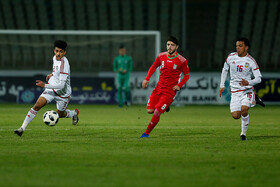 The football match between Iran U19 men's national football team and the United Arab Emirates, Tehran, Iran, November 10, 2019.