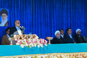 Iranian President Hassan Rouhani is seen during his two-day visit to Kerman Province, Iran, November 11, 2019.