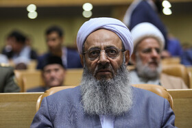 Molavi Abdul Hamid, a high-ranking Iranian Sunni cleric, is present in the opening ceremony of the 33rd International Islamic Unity Conference, Tehran, Iran, November 14, 2019.