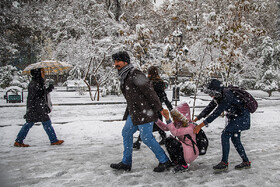 Tehran's first autumn snow