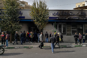 Damages to public property in Tehran, Iran, November 17, 2019.