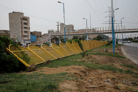Damages to public property in Ahvaz, Iran, November 17, 2019.
