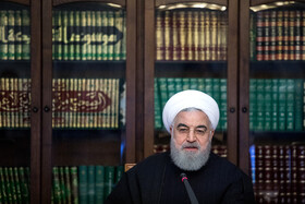Iranian President Hassan Rouhani is present in the meeting of Iran's Supreme Council of Cultural Revolution, Tehran, Iran, November 19, 2019.