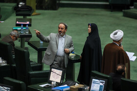 MPs are seen on the sidelines of the public session of Iran's Parliament, Tehran, Iran, November 24, 2019.