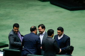 MPs are seen on the sidelines of the public session of Iran's Parliament, Tehran, Iran, November 25, 2019.