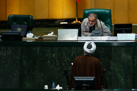 On the sidelines of the public session of Iran's Parliament, Tehran, Iran, November 25, 2019.