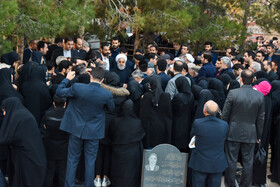 The funeral of the sister of Iranian President Hassan Rouhani is held in Semnan, Iran, November 25, 2019.