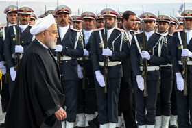 Iranian President Hassan Rouhani makes a visit to East Azerbaijan, Iran, November 27, 2019.