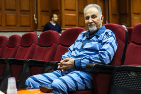 Former Tehran Mayor Mohammad Ali Najafi is present in a court session in which the murder of Mitra Ostad who was Mr Najafi's wife is assessed.