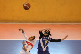 A basketball match in the third week of Iranian women's basketball league, Tehran, Iran, November 28, 2019.