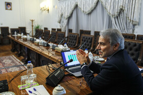 Head of Iran's Planning and Budget Organization Mohammad Baqer Nobakht is present in the session of the Supreme Council of Economic Cooperation, Tehran, Iran, November 30, 2019.