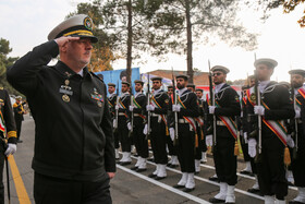 Navy Commander Rear Admiral Hossein Khanzadi is seen on the sidelines of the unveiling ceremony of Iranian Navy's new military achievements, Tehran, Iran, November 30, 2019.