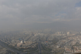 Air pollution in Tehran, Iran, November 30, 2019. The average concentration of hazardous airborne particles in Tehran on Saturday is 107 micrograms per cubic meter, considered as unhealthy for all age groups.