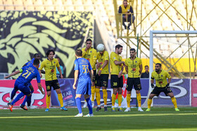 The football match between Sepahan FC and Esteghlal FC, Isfahan, Iran, November 30, 2019.