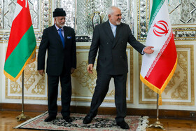 The meeting between Iranian Foreign Minister Mohammad Javad Zarif and Oman's Foreign Minister Yusuf Bin Alawi, Tehran, Iran, December 2, 2019.