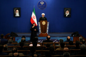 Iranian President Hassan Rouhani delivers a speech during a ceremony for marking the International Day of Persons with Disabilities, Tehran, Iran, December 3, 2019.