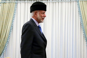 Oman's Foreign Minister Yusuf Bin Alawi is seen during his meeting with Iranian President Hassan Rouhani, Tehran, Iran, December 3, 2019.