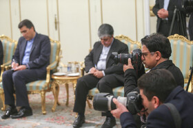 On the sidelines of the meeting between Oman's Foreign Minister Yusuf Bin Alawi and Iranian President Hassan Rouhani, Tehran, Iran, December 3, 2019.