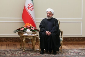 Iranian President Hassan Rouhani is seen during his meeting with Oman's Foreign Minister Yusuf Bin Alawi, Tehran, Iran, December 3, 2019.