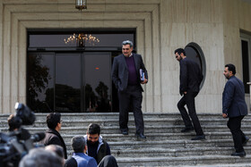 On the sidelines of the session of Iran's cabinet ministers, Tehran, Iran, December 4, 2019.